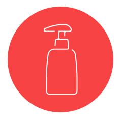 Disponibilizamos desinfetante para uso em equipamentos e desinfeção de mãos.